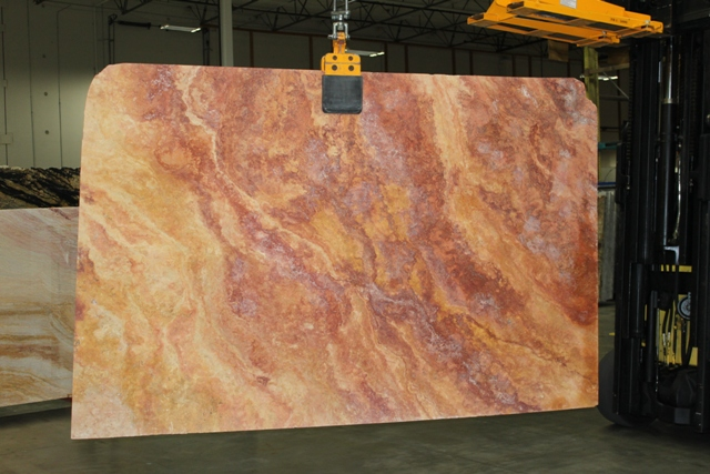 Peach Blend Travertine 3CM - Spokane, WA